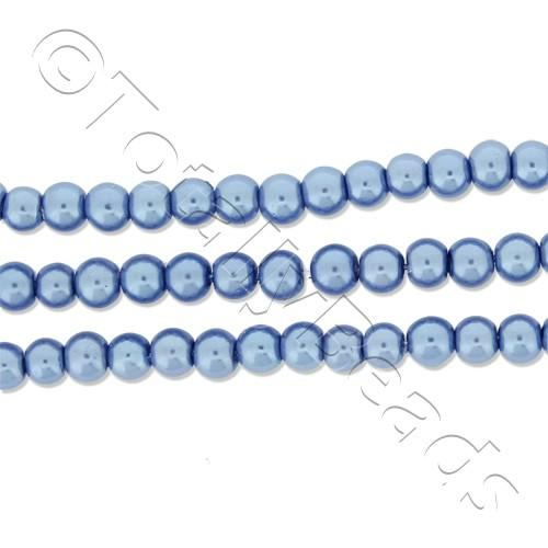 Glass Pearl Round 3mm - Denim Blue