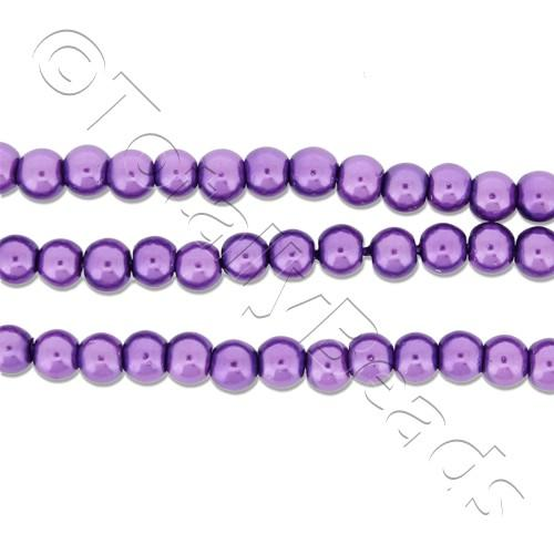 Glass Pearl Round 3mm - Amethyst